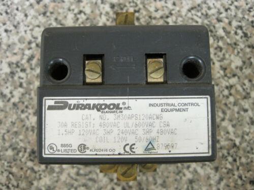 Durakool 3M30APS120ACWG Mercury Contactor Relay 600VAC Max, 120 VAC Coil Used