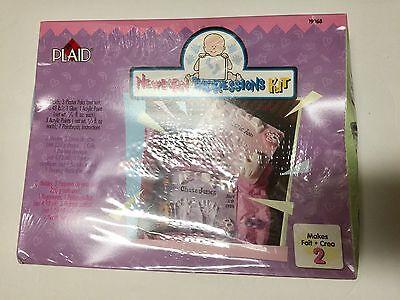 Plaid Newborn Impressions Handmold Kit 19968 Makes 2 Impressions New
