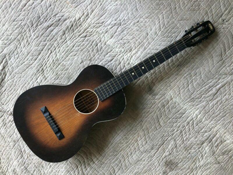 "vintage oahu Hawaiian ""lap steel"" guitar w/ original soft-shell case"