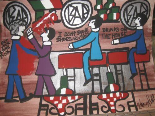 Henry Hill Goodfella Original Mob Art New York City GET YOUR SHINE BOX BILLY BAT