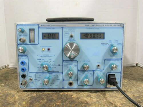 Rycom 6041 Selective/Wide Band Level Meter Frequency Counter 300 Hz - 3.5 MHz