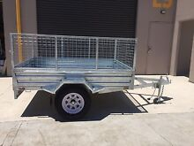 7 x 5 box trailer with cage and tipping. Campbelltown Campbelltown Area Preview