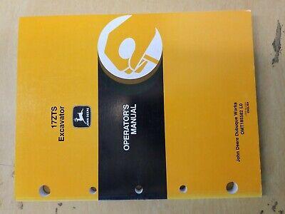John Deere 17zts Excavator Operators Manual