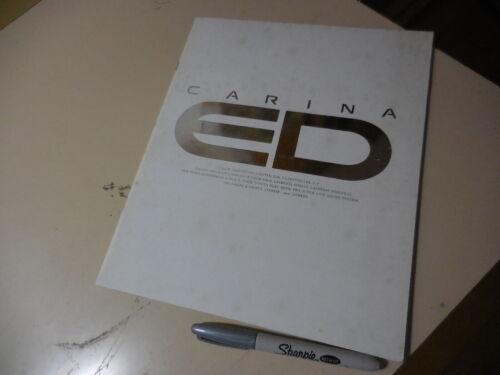 TOYOTA CARINA ED Japanese Brochure 1989/09 183/182/180/181 3S-GE 3S-FE 4S-Fi