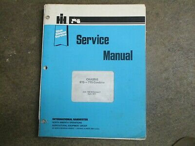International Harvester 615 715 Combine Service Repair Manual