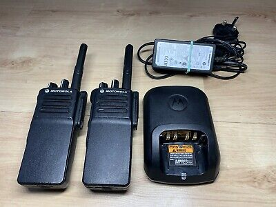 Motorola DP4400e UHF Two-Way Radios w/Batteries and Charger