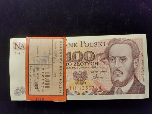 1986  100 ZLOTYCH POLAND  P 143c  LOT OF 88 PIECES