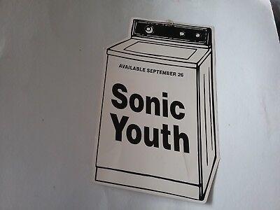 "SONIC YOUTH 1995 WASHING MACHINE PROMO HANG DISPLAY 18 X 11 "" CREASES VG RARE"