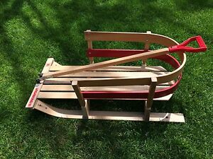 Wooden sled 33 inches long