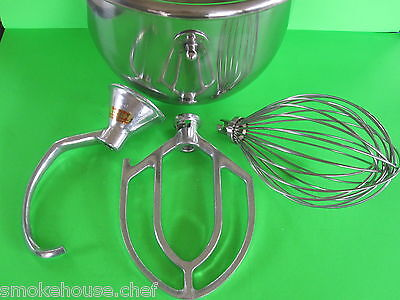 Everything For The Hobart C100 Mixer. Bowl Hook Beater Whip Whisk 10 Quart