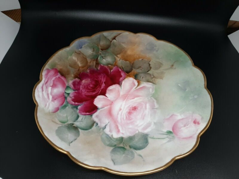 Antique Limoges hand painted plate excellent vintage condition see pics