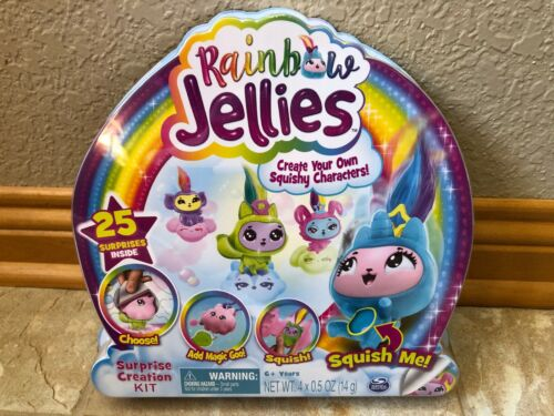RAINBOW JELLIES -  25 SURPRISE CREATION KIT - MAKE YOUR OWN SQUISHY CHARACTERS