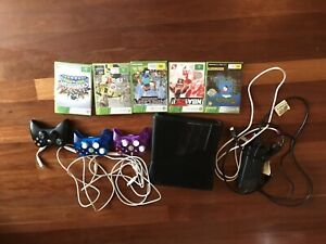 Used X-box 360 console, controllers and games