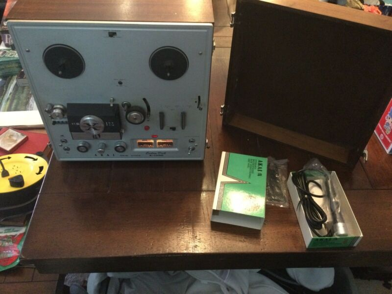 1967 Akai X-150D Reel-to-Reel Tape Deck Player Recorder Crossfield Heads WORKS