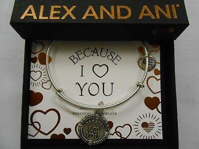 Alex And Ani Because I Love You Iii Bracelet Rafaelian Silver Nwtbc
