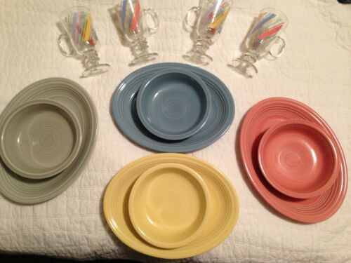 Fiestaware Retired colors platters & bowls