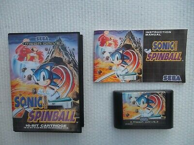 Jeu Megadrive / MD Game Sonic Spinball Complet PAL SEGA genuine original CIB*