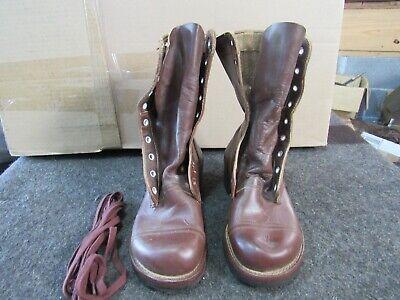 Combat Boots Original NOS Russet Jump Style Korea 1953 size 3 x-wide (3XW)