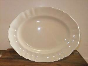 Vintage French Provincial cream china plate Leabrook Burnside Area Preview