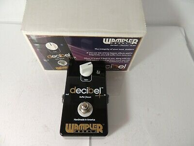 Wampler Decibel + Plus Buffer and Boost Effects Pedal Booster Free USA Ship