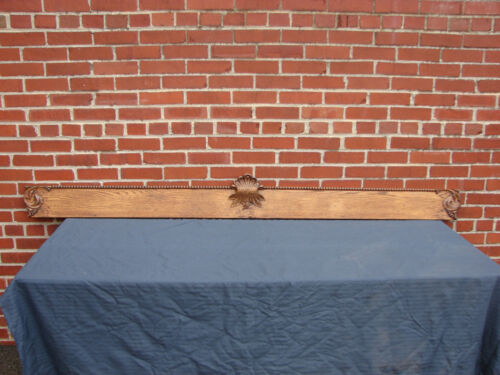 "ANTIQUE OAK WINDOW DOOR HEADER/CROWN / PEDIMENT 84"" WIDE #1"