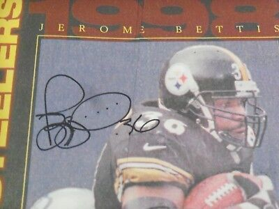 Jerome Bettis, Pgh Steelers, Signed 1998 Newspaper Insert, Full Name, Clean