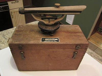 vintage Berger transit level in dove tailed case