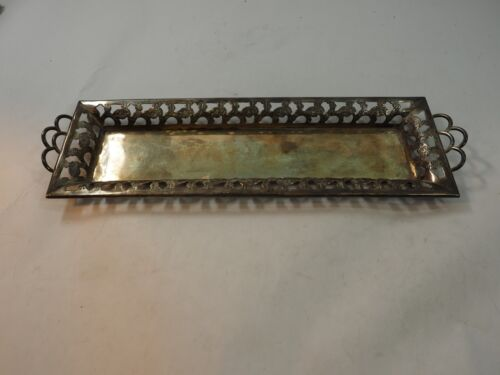 """Large Sterling Silver Perfume what-not Tray Taxco Mexico 13.5"""" x 4"""""""