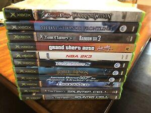 Lot de 11 jeux XBOX CLASSIQIE