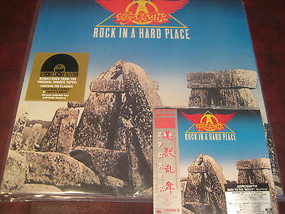 Aerosmith Rock In Hard Place Japan Replica Obi Rare 04 Cd Verify Sticker 180G Lp