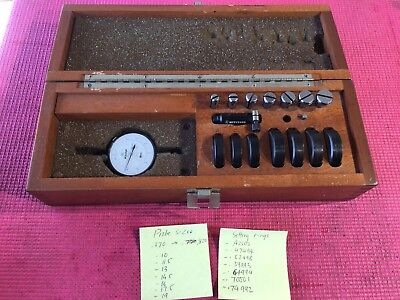 Mitutoyo Split Bore Hole Inside Micrometer Gage .37-.82 In .0001 Grad