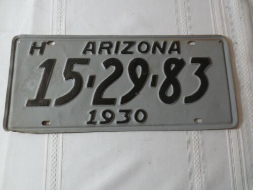 1930 ARIZONA RESTORED LICENSE PLATE 15-29-83