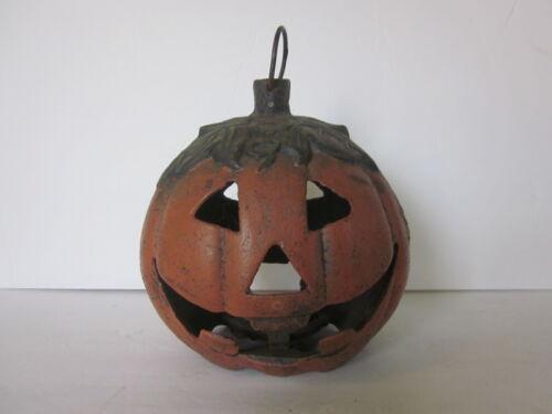 Cast Iron Heavy Jack-O-Lantern Pumpkin Tea Light Holder