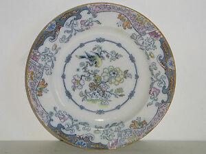 ancienne assiette en porcelaine opaque anglaise xix e d cor chine oiseau signee ebay. Black Bedroom Furniture Sets. Home Design Ideas