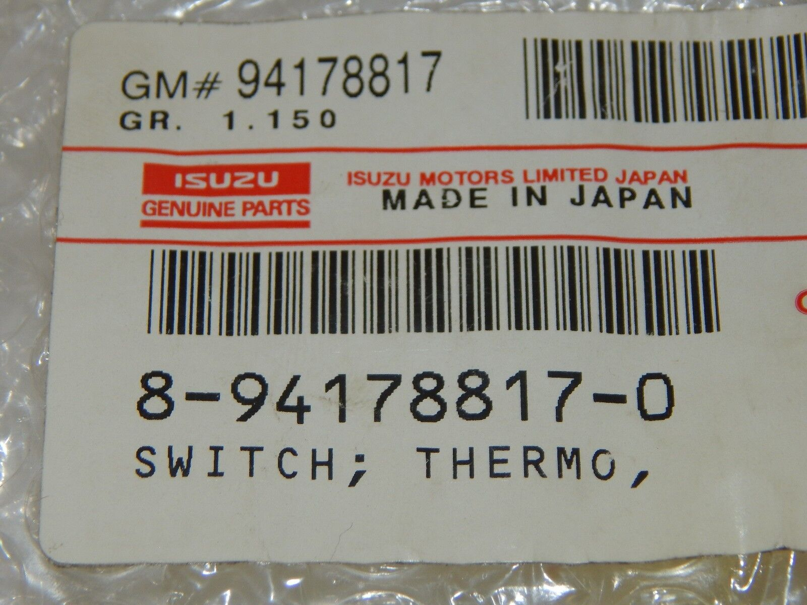 New OEM Isuzu N-Series Truck Thermo Temperature Sensor