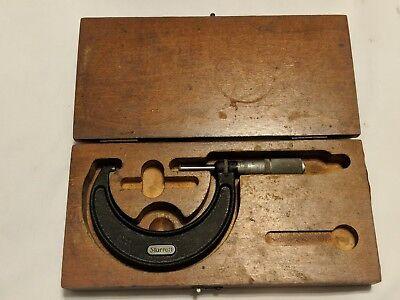 Starrett No. 436 2-3 Inch Micrometer .0001 Wwood Box Machinist Toolmaker Tool