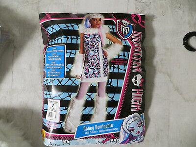 Monster High Abbey Bominable Kostüm Ovp mit Perücke 5-7 Jahre guter Zustand