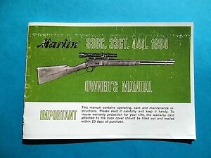 MARLIN MODEL 336C, 336T, 444, 1894 OLDER STYLE LEVER ACTION OWNERS MANUAL