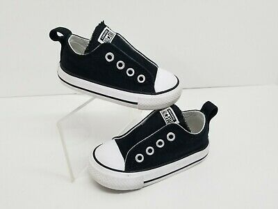 Converse CT All Star Black Sneakers No Lace Slip On Shoes Toddler Size 5