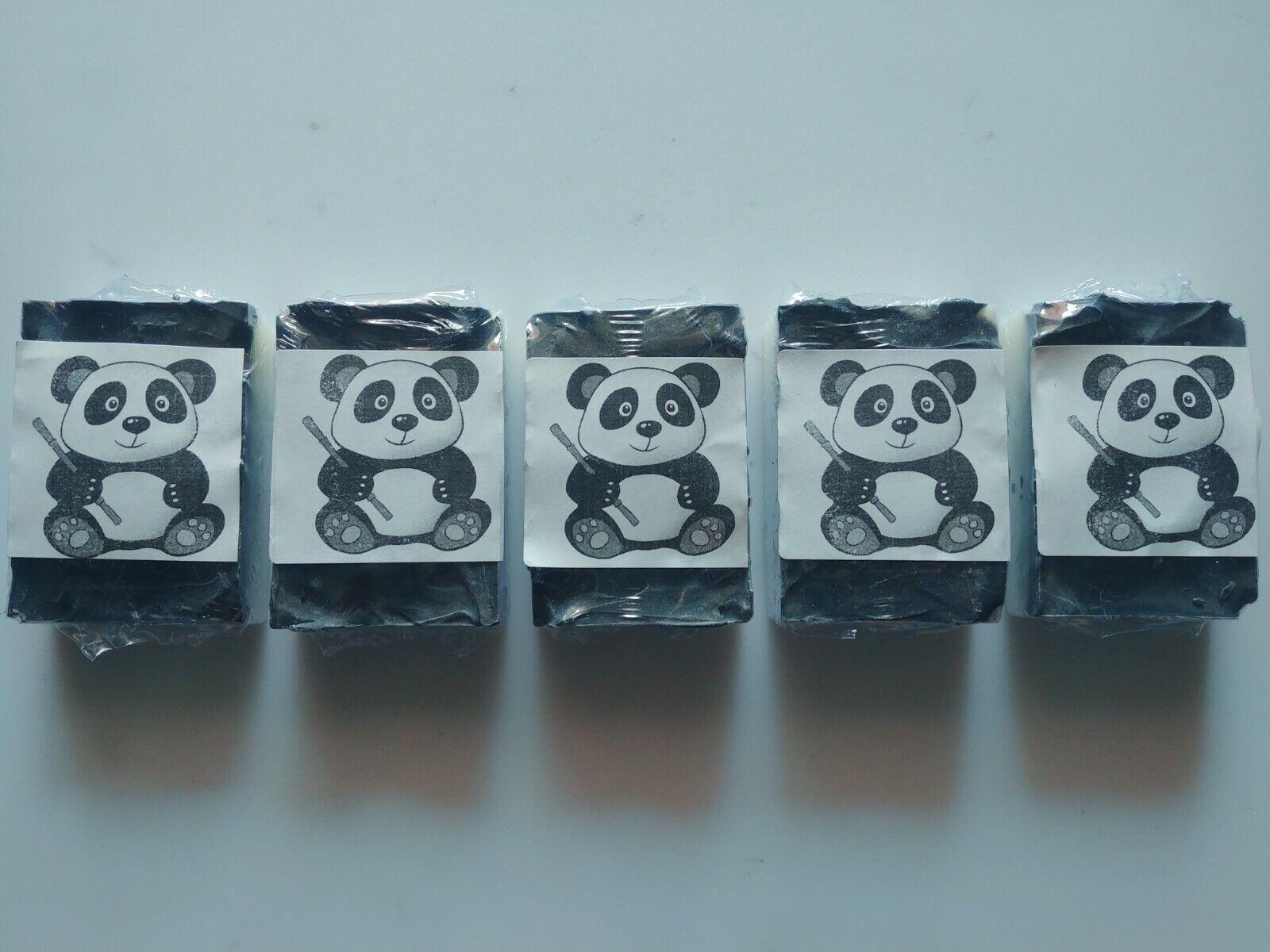 5 x Panda Bar Soap - Coconut Oil & Charcoal Unscented Homema