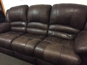 Leather lazy boy couch