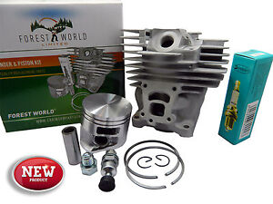 Cylinder kit,47 mm fits STIHL MS 362,MS362,362C,NiSiC coated,new,by FOREST WORLD