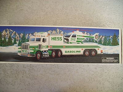 """Vintage Hess Gas 1995 """"Toy Truck & Helicopter"""" NIB"""