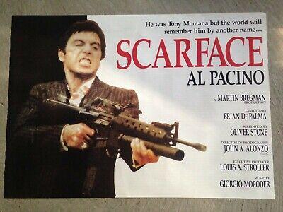 Scarface filmscore poster 24x34- Tony Montana, Al Pacino