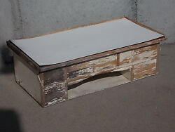 Antique 11 Drawer Table Top Watchmakers Jewelers Work Bench Nice Weathered Look