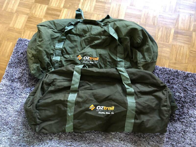 OZtrail Canvas Duffle Bag - Extra Large x2  43487b8be6934