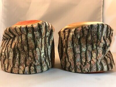 Set Of 2 Faux Wooden Log Soft Tissue/Toilet Paper Roll -