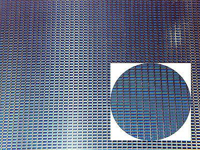 feines Alu- Lochgitter, Lochblech 100 x 125 x 0,5mm, 3,9 x 4,5 mm Rechteckloch