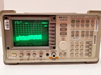 Hp Agilent 8563e Rf Spectrum Analyzer 9khz - 26.5ghz