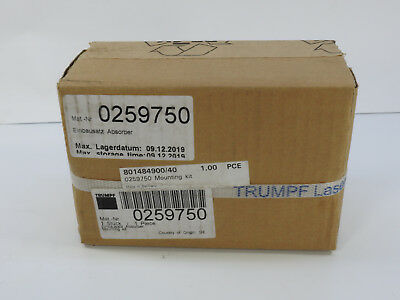Trumpf Laser Mounting Kit 0259750 1 Absorber O-ring 0922420